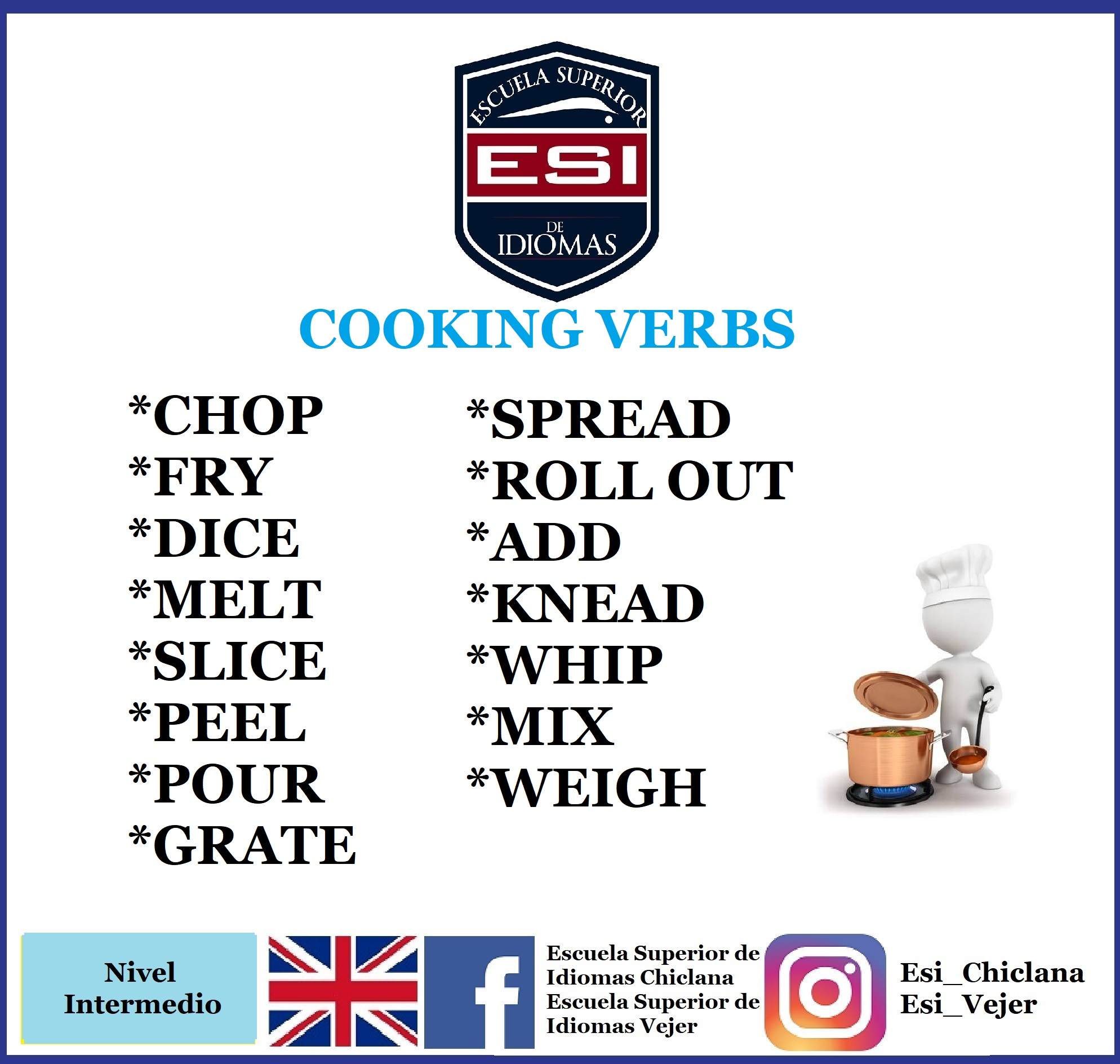 VOCABULARY 21: COOKING VERBS